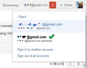 sign-in features Gmail